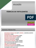 Aplicações em  fábrica de fertilizantes.