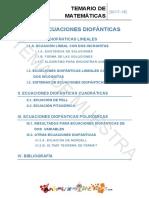 Muestra Tema 15 Ecuaciones Diofanticas