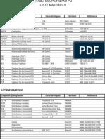 liste matériels