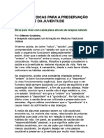 Gilberto Coutinho - Principais dicas para a preservação da saúde e da juventude - sono reparador