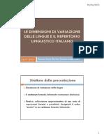 Le dimensioni di variazione delle lingue e il repertorio dell'italiano [Compatibility Mode].pdf