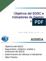 Indicadores de Seguridad y Objetivos Segun El SGCS