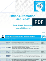 Fact Sheet Summary - OA-SAP-ABAP-00 v1.09