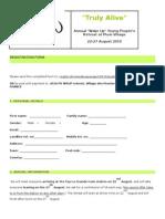 Youth Retreat Registration Form 2010