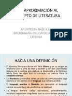Qué Es Literatura_Diversos Enfoques