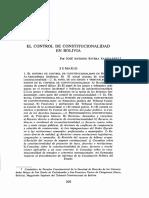 EL SISTEMA DE CONTROL DE CONSTITUCIONALIDAD EN BOLIVIA