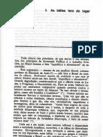 "Roberto Schwarz. Ao Vencedor as Batatas. 1988. ""as Ideias Fora Do Lugar"""