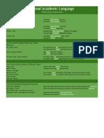 formal academic language sheet