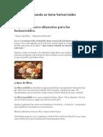 Que Comer Cuando Se Tiene Hemorroides Externas.pdf