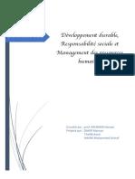 développement durable et management de ressources humaines