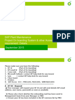 SAP PM Onboarding System Requirement Details Sep 2015