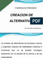 Creacion de Alternativas Sintesis