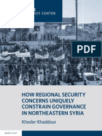 How Regional Security Concerns Uniquely Constrain Governance in Northeastern Syria