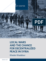 Local Wars and the Chance for Decentralized Peace in Syria