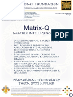 Matrix-Q (Matrix Intelligence) Test & Applications