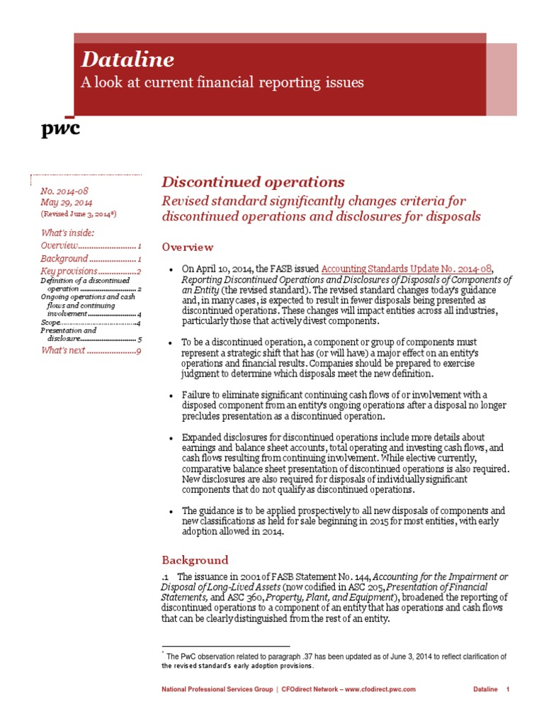 Discontinued Operations | Expense | Financial Accounting