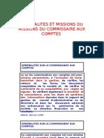 Les Missions Du Commissaire Aux Comptes
