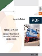 NOM- 016-STPS- Ferro Carriles