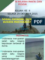 2. Sosial Ekonomi, Ekologi Dan Budaya Masyarakat Pesisir