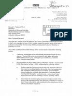 Missouri, LCME findings, 2001