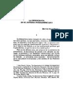 GROS ESPIELL, La Democracia en El Sistema Interamericano