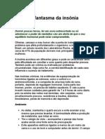 Insônia - Afaste o problema da insônia - W Rondó Medical Center - medicina preventiva