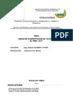 Indices de Competitividad Ucayali