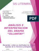 SESIÓN N° 03; INTERPRETAMOS EL DRAMA OLLANTAY