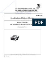 Specification of 24V50A Lead-Acid Battery Charger