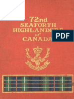 72nd Seaforth Highlanders of Canada - Early history