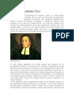 Biografia Giovanni Battista Vico