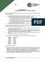 IEE2A2 - Problema Ejemplo Compensacion del factor de potencia - Clase.pdf