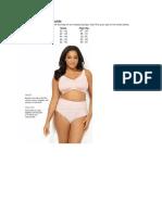 Panties Measurement Guide
