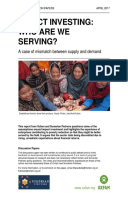 Impact Investing: Who are we serving? A case of mismatch between supply and demand