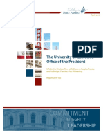 Auditor's report on the office of the UC president