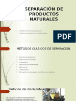Separación de Productos Naturales