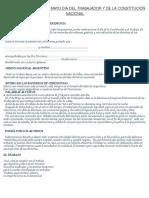 Glosas Para El Acto 1º de Mayo Dia Del Trabajador y de La Constitución Nacional