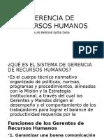 Gerencia de Recursos Humanos - Clase 01