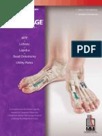 Memometal Anchorage Foot Fusion Plates