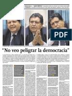 No Veo Peligrar La Democracia