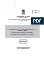 Rajya Sabha Report of Border Security