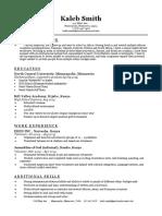 kalebs resume