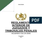 02-05-16(1) - Acdo. CSJ 24-05 - Reglamento Interior de Juzgados y Tribunales Penales