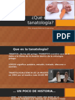 Que Es La Tanatología