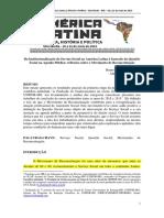 Da Institucionalização Do Serviço Social Na América Latina à Inserção Da Questão Social Na Agenda Pública Reflexões Sobre o Movimento de Reconceituaç