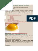 Cómo Quitar El Mal de Ojo Con Un Huevo
