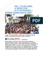 GRANTING GSP + TO SRI LANKA WOULD BE A TROPHY FOR NEGLECTING ITS HR PROMISES – GERMAN HUMAN RIGHTS ORGS.docx
