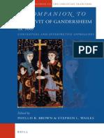 A Companion to Hrotsvit of Gandersheim (fl. 960)
