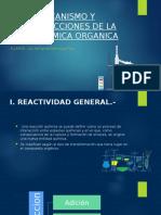 Mecanismo y Reacciones de La Quimica Organica