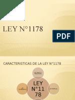 LEY N°1178